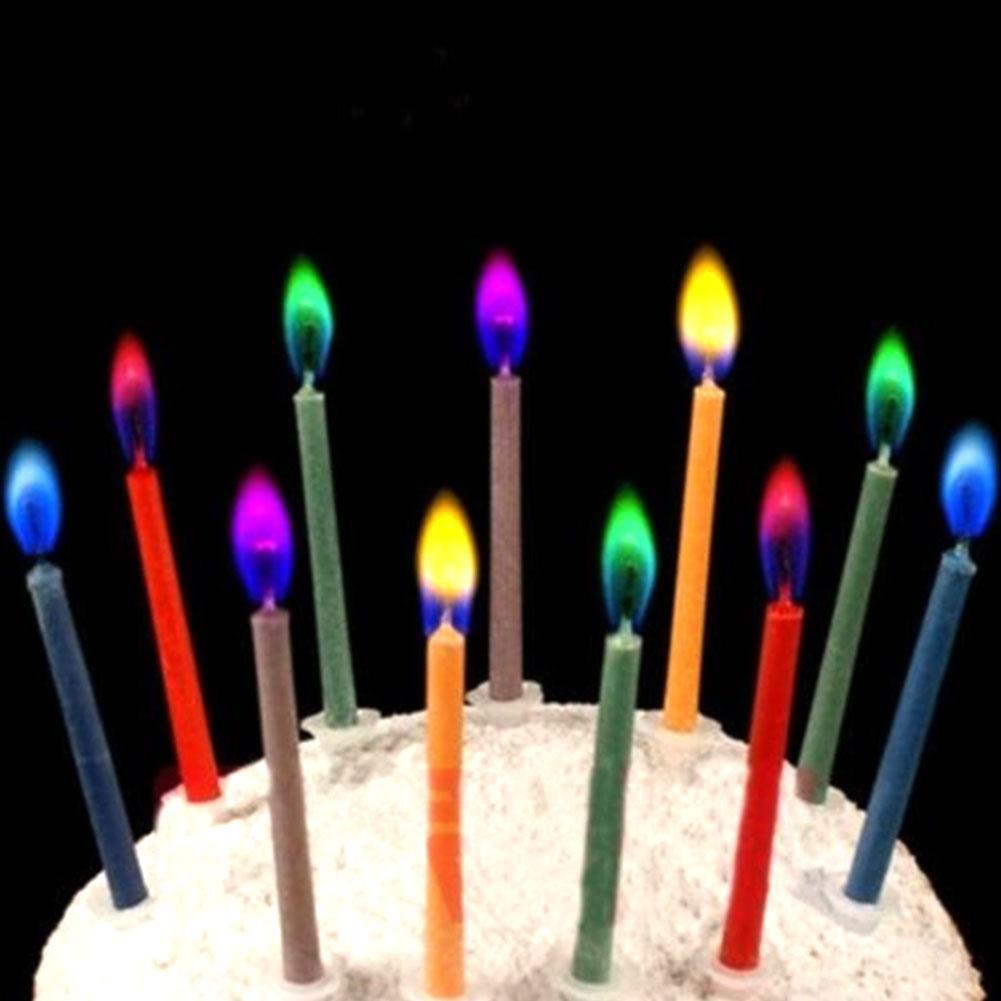 Свечи, которые горят разноцветным пламенем! Свечи с разноцветным огнем! Упаковка 6 шт.