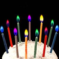 Свечи, которые горят разноцветным пламенем! Свечи с разноцветным огнем! Упаковка 6 шт., фото 1