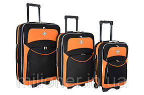 Чемодан Bonro Style набор 3 штуки черно-оранжевый