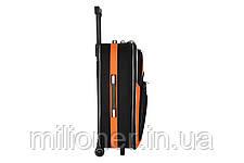 Чемодан Bonro Style набор 3 штуки черно-оранжевый, фото 3