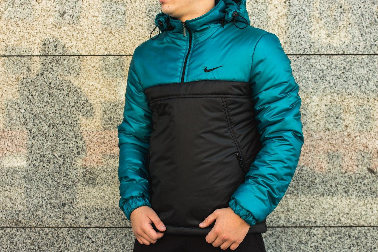 Анорак Intruder Nike, синьо-чёрный