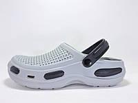 Мужские кроксы. Белые с черным 115560