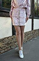 Юбка велюровая 464 (4цв), короткая юбка, юбка из бархата