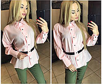 Женская рубашка на пуговицах