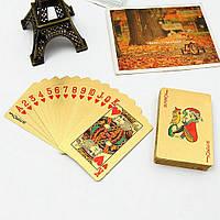 Водонепроницаемые позолоченные игральные карты! Колода золотых карт!