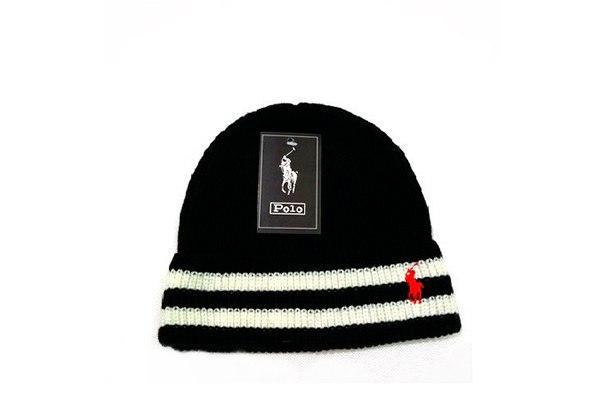 Черная шапка Polo Ralph Lauren