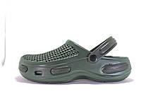 Мужские кроксы. Зеленые с черным 115566