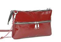 Женская кожаная сумка через плечо 28 BL Бордовая