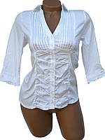 Женские рубашки с рукавами 3/4 (белые,чёрные 42-48)