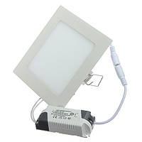 Светильник светодиодный 9Вт квадратный нейтральный свет