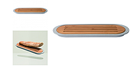 ORIGINAL BergHOFF 3950061 Доска для нарезки хлеба LEO, с поддоном, 37 х 11 х 2 см