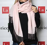 Шарф-палантин, цвет нежно-розовый, фото 1