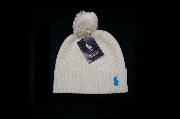 Белая шапка Polo Ralph Lauren