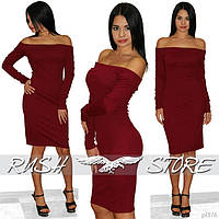 Классическое облегающее платье без бретелей
