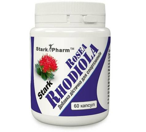 Rhodiola Родіола рожева 400 мг 60 капсул (золотий корінь, рожевий корінь, лат. Rhodiola rosea), фото 2