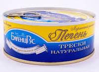 """Печень трески натуральная в/сорт """"БаренцРус"""" 230 г"""