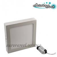 Точковий світлодіодний накладний світильник (квадратний) AR2-12W 4000/3000 K (Алюміній) 840lm