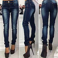 Женские стрейчевые джинсы с потертостями Польша, фото 1