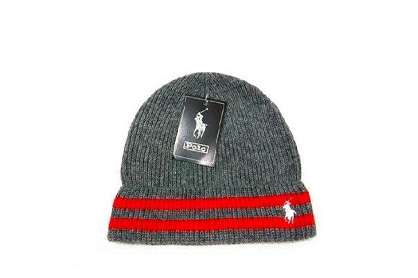 Серая шапка Polo Ralph Lauren