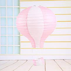 """Бумажный декор для праздника """"Воздушный шар"""" розовый с белым"""