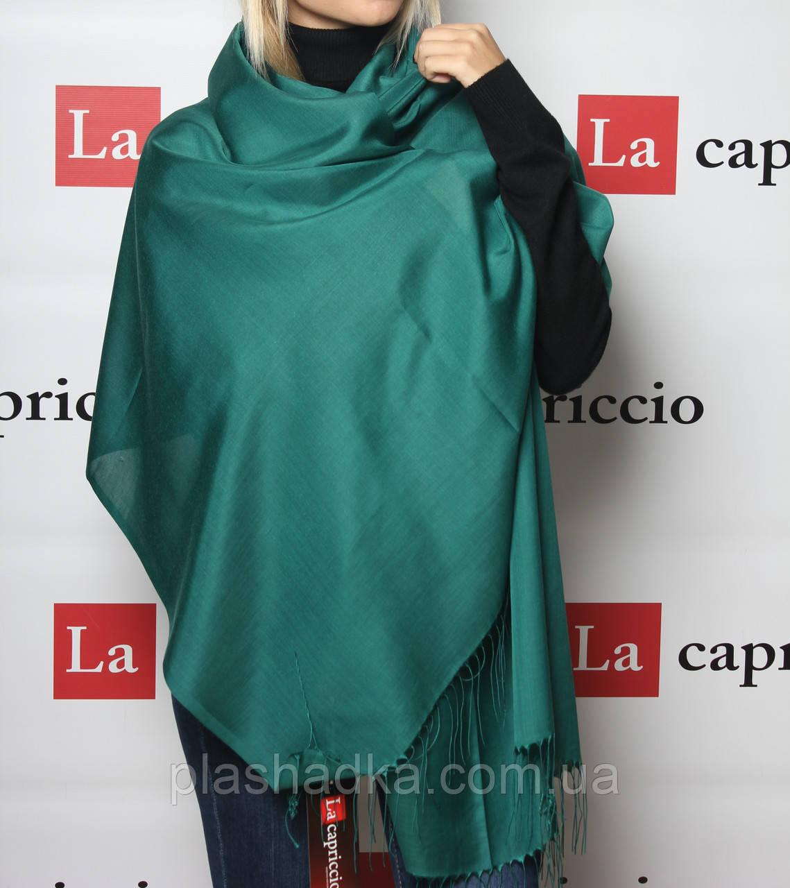 Шарф-палантин, цвет  зеленый
