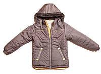 Зимняя детская куртка для мальчка. Цвет: синий, серый. рр.128-158