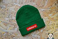 Зимняя шапка Adidas Beanie / Адидас зеленая