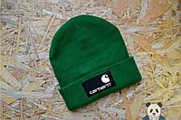 Зимняя шапка Carhartt Beanie / Кархарт зеленая