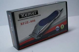 Машинка для стрижки Kemei 806, полный комплект, сменные насадки, щеточка для чистки., фото 3