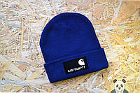 Зимняя шапка Carhartt Beanie / Кархарт синяя