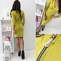 Платье с чекером и змейкой сзади мод.Ч 071