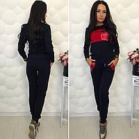 Женский спортивный костюм с паетками