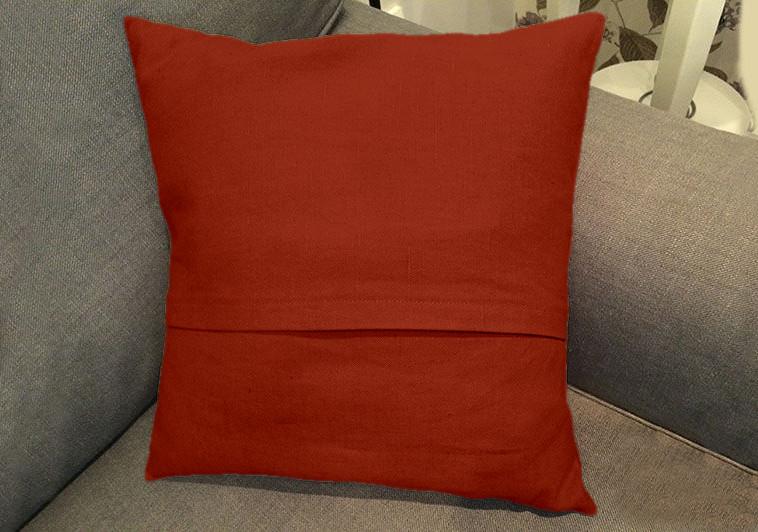 Декоративная подушка квадратная модель 2 Винный