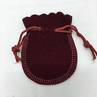 Мешочек бархатный бордовый, размер 7,5*6 см