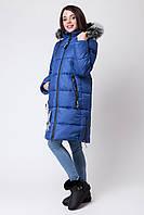 Зимнее пальто для девочки-подростка ZKD3 р. 134-164 см цвет электрик