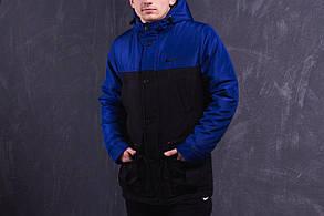 Парка зимняя Nike, синьо-чёрная