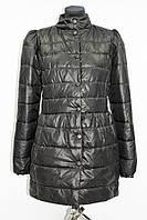 Куртка женская демисезонная, удлиненная, черная, р.44-50