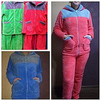 Пижама  женская махра  с длинным рукавом 42- 50р,доставка по Украине