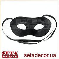 Маска черная мужская венецианская карнавальная