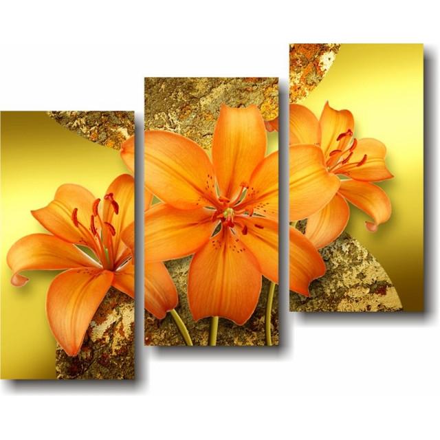 купить модульную картину с лилиями в интернет-магазине