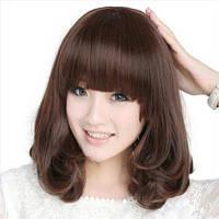 Красивый парик, темно-коричневый. Kanekalon 238