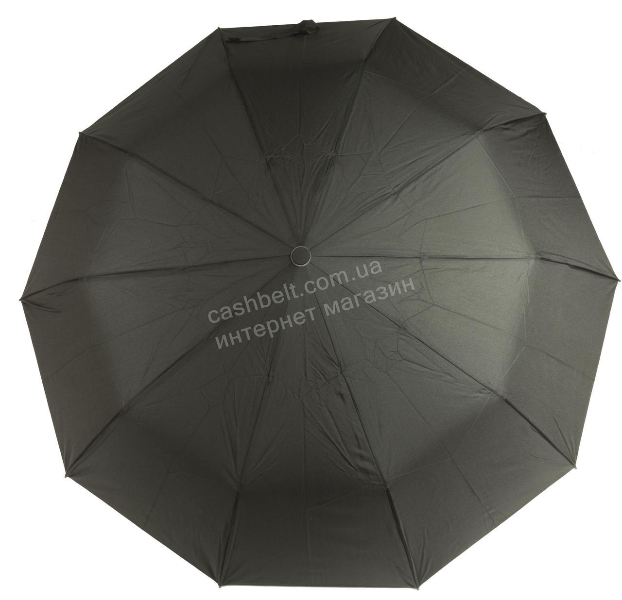 Мужской прочный зонт полуавтомат классический черный цвет BELLISSIMO art. SL452 (101613) черный