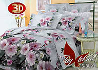 Комплект постельного белья ТМ TAG 1,5-спальный, постельное белье полуторка 3D PS-BL93