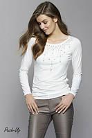 Облегающая блуза Zaps Azalia молочного цвета