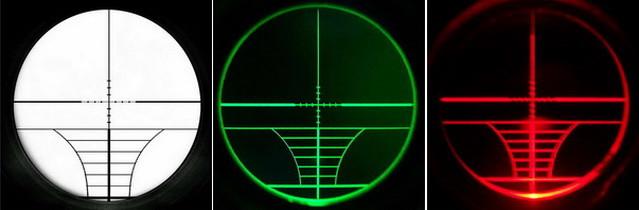 Подсветка арбалетной сетки Rangefinder в Rifle scope 4-16x50 AOE