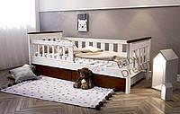 Подростковая кровать белая от 3 лет с бортиками Инфинити