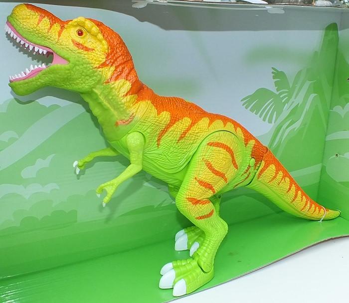 Большой Динозавр Тиранозавр Рекс реалистичные звуки, ходит, движет головой, светятся глаза