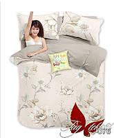 Комплект постельного белья ТМ TAG 1,5-спальный, постельное белье полуторка с компаньоном S-076