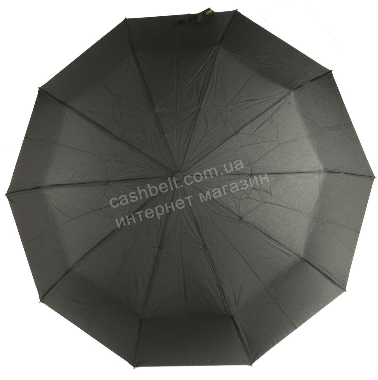 Мужской прочный зонт автомат классический черный цвет SUSINO art. 457 черный (101610)