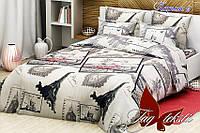 Комплект постельного белья ТМ TAG 1,5-спальный, постельное белье полуторка Париж 2